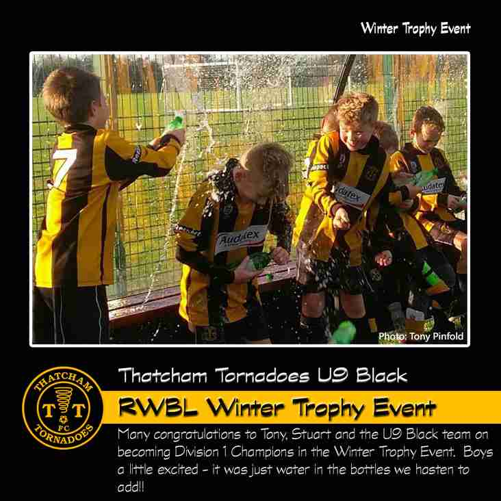 Tornadoes U9 Black Claim RWBL Winter Trophy Event Honours