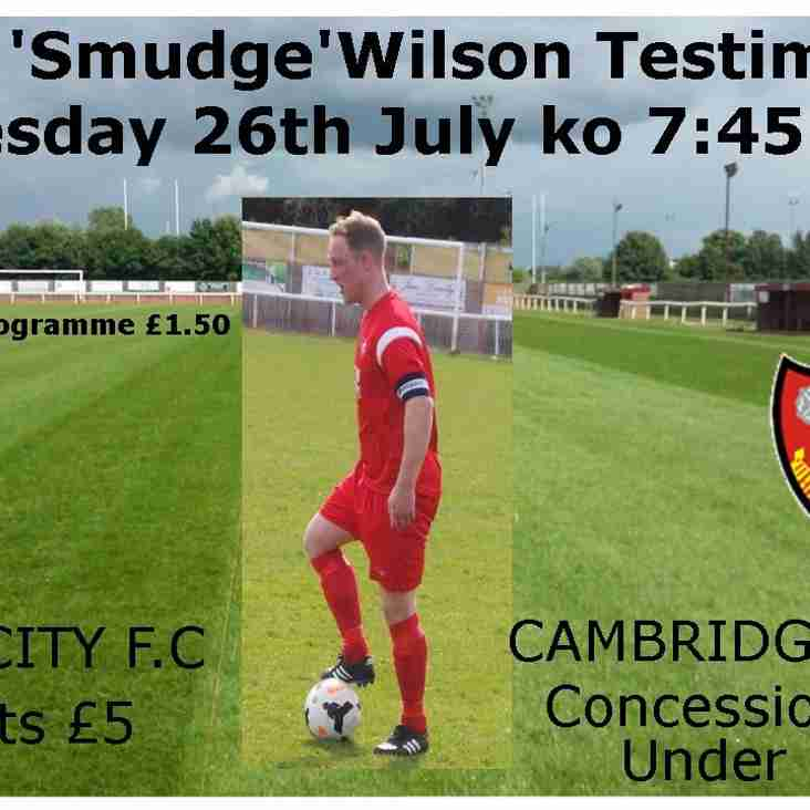 Match Day Sponsorship for David 'Smudge' Wilson now sold