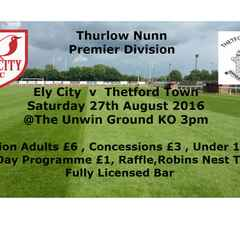 Match Day At The Unwin ,Ely City v Thetford Town