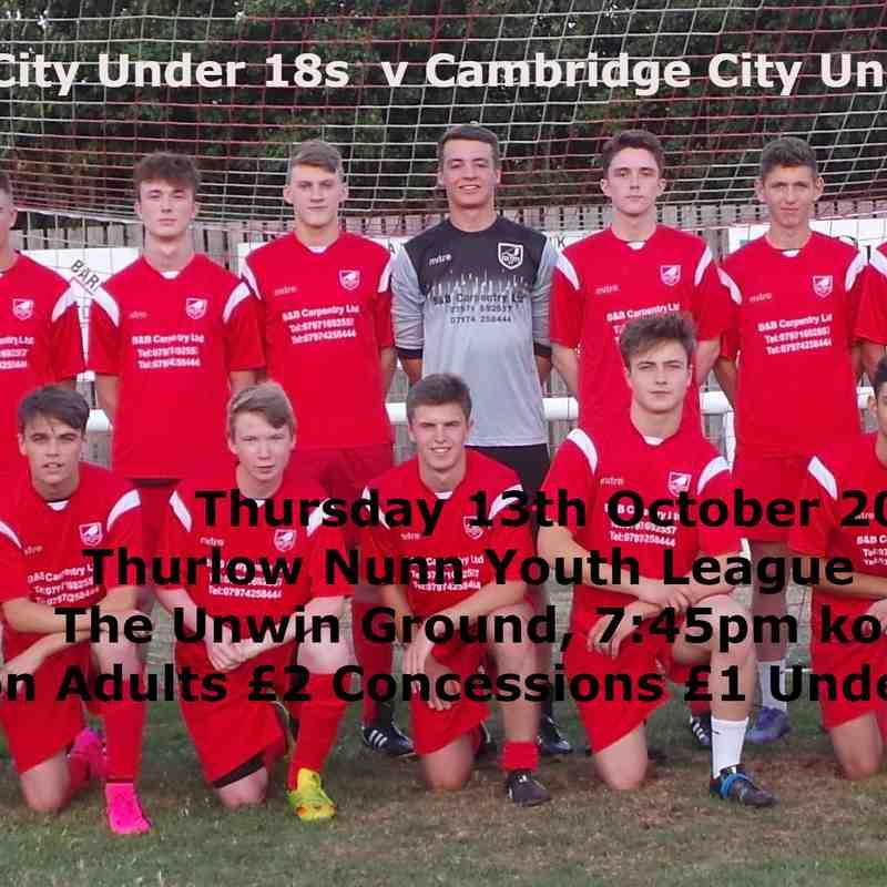 v Camb City U18