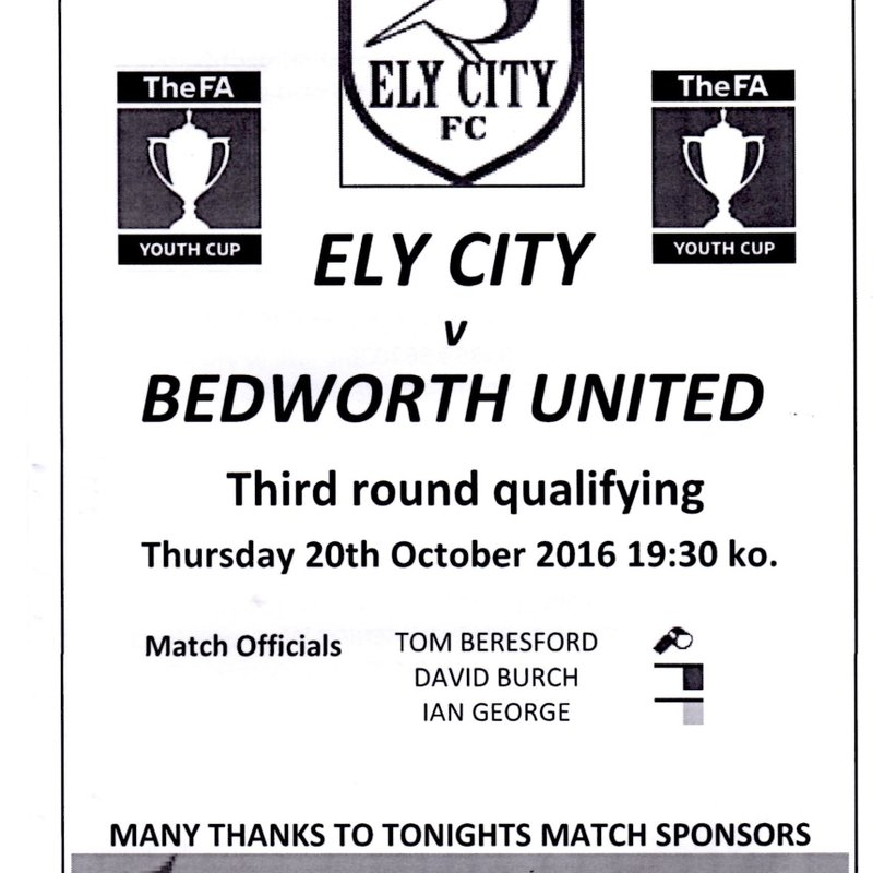Match Highlights Ely City Under 18s v Bedworth United Under 18s