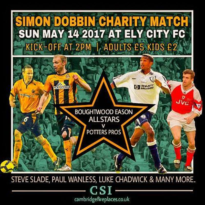 *UPDATED MARCH 22nd*The Simon Dobbin Charity Day Sunday 14th May Tickets now on sale