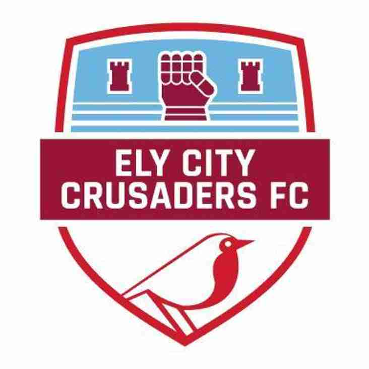 Ely City Crusaders  Under 16 Blue in Cup Final on Sunday