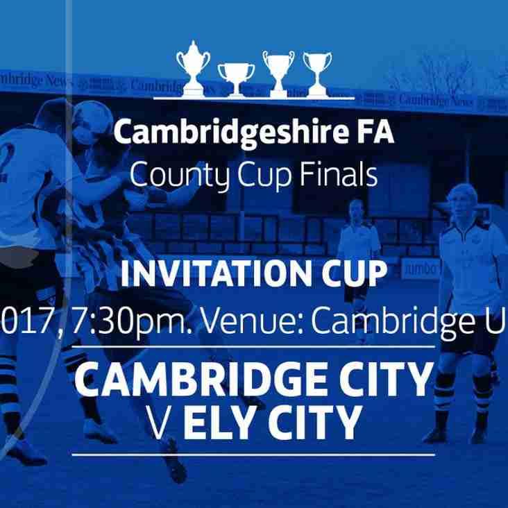 Ridgeons Cambridgeshire  Invitation Cup Final tonight