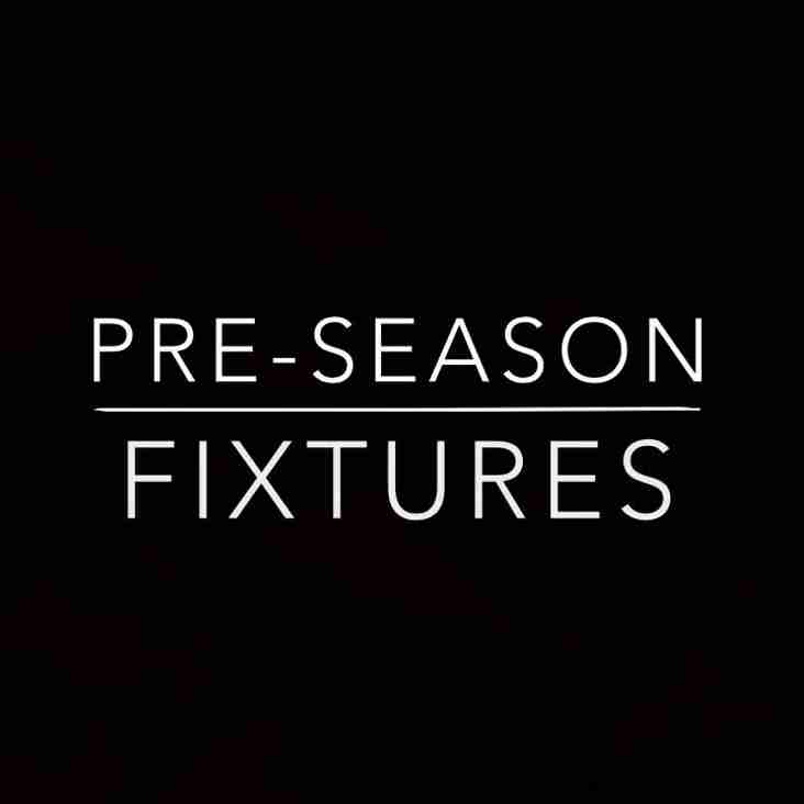 Pre-Season Fixtures Announced 2019/20