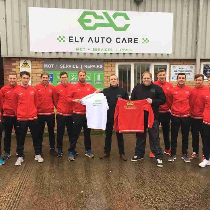 Ely Auto Care confirm continued partnership into 2017/18 Season