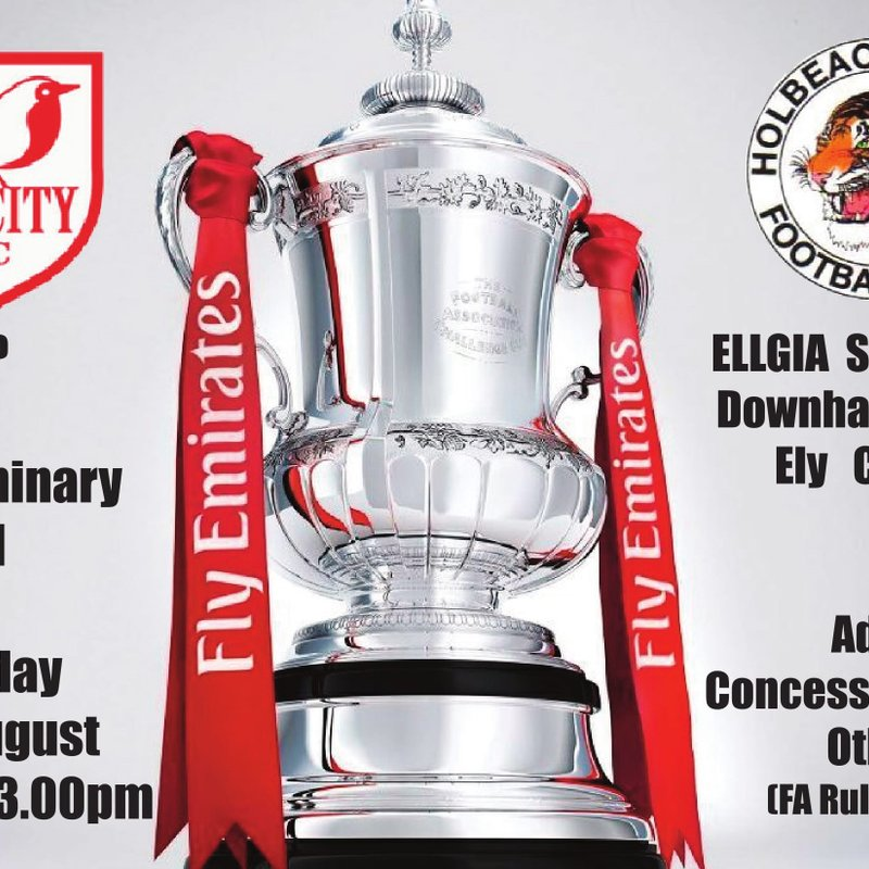 First Team in FA Cup action at The Ellgia Stadium