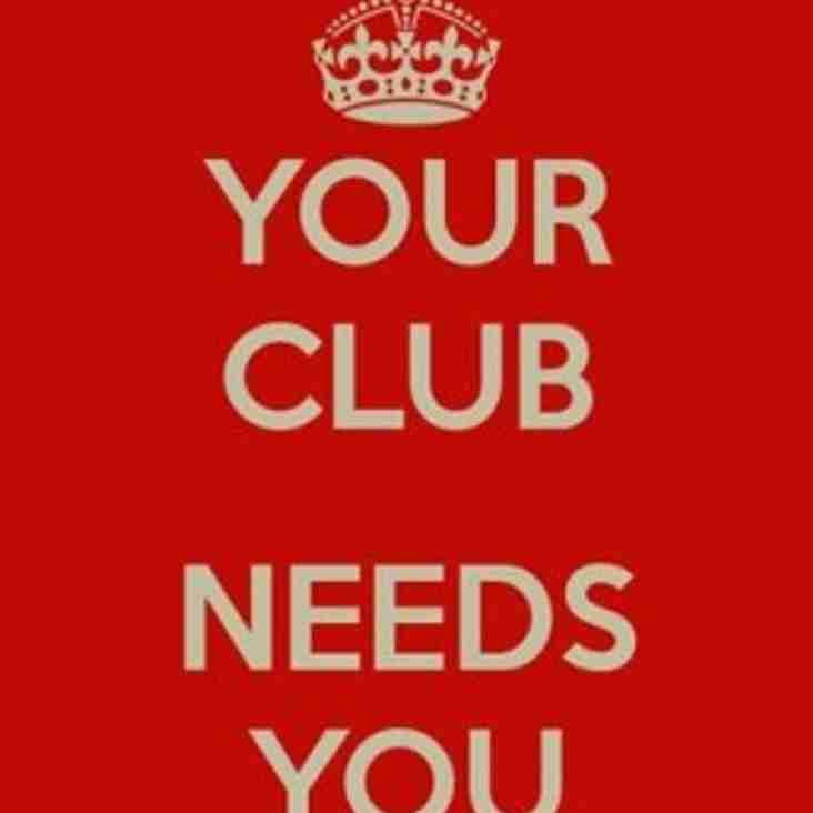 Club Volunteers Required