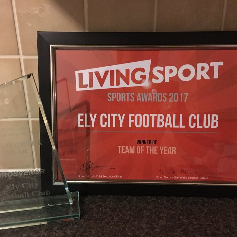 Club are Winners of the Living Sport Team of the Year 2017