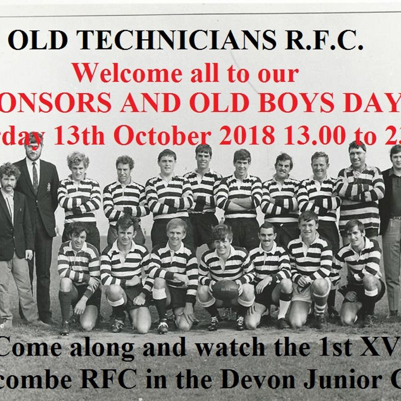 SPONSORS AND OLD BOYS DAY