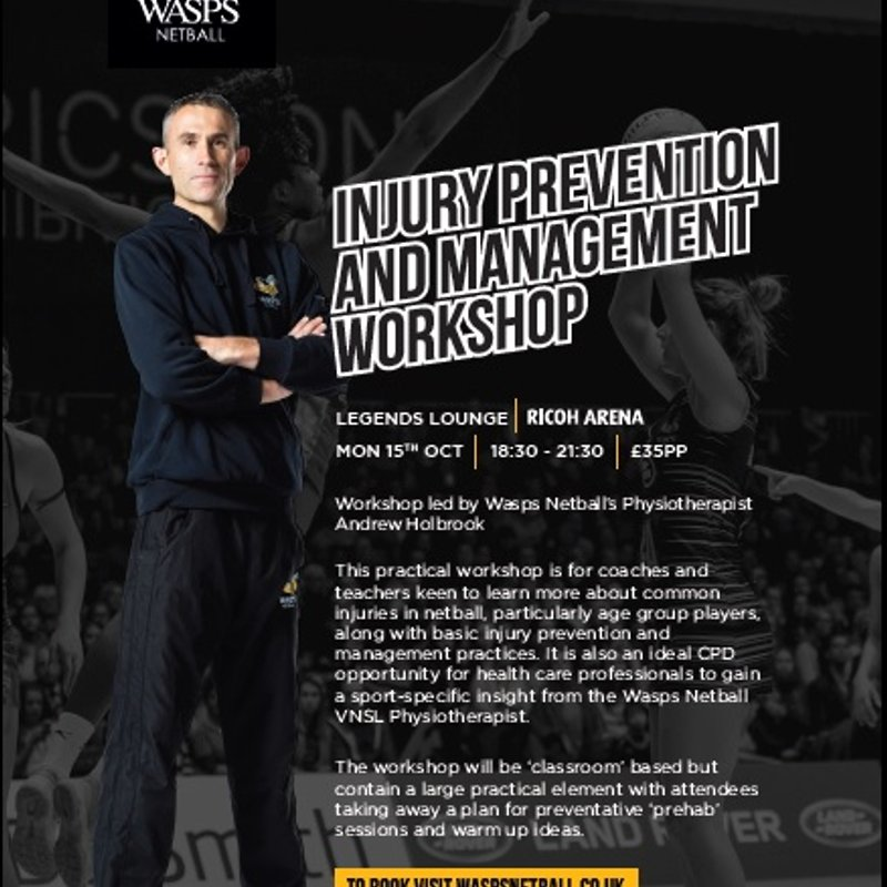 Injury Prevention and Management Workshop