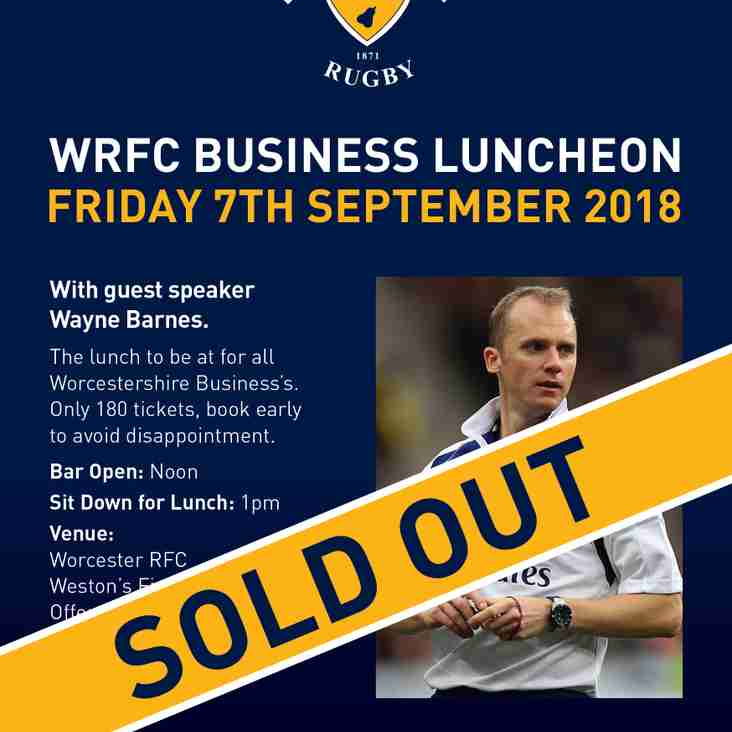Friday 7th September - WRFC Business Lunch