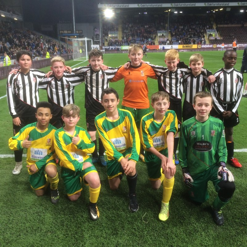 A great night at Turf Moor for a dozen of our U12's lads.