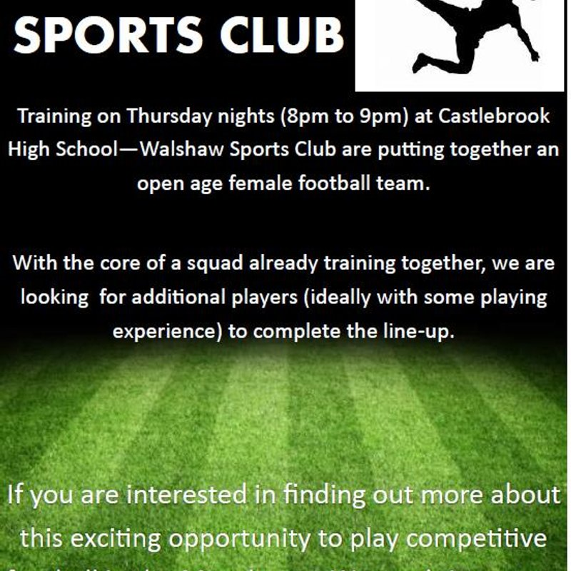 Open Age Womens Team Forming