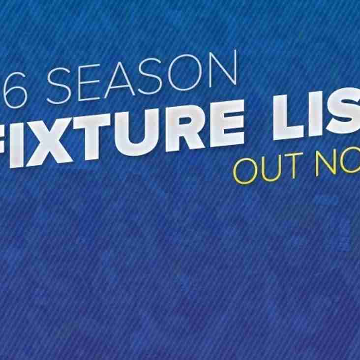 ***Revised***Season Fixtures Now Published