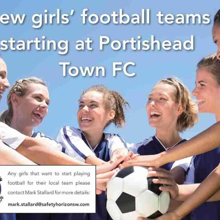 New Portishead Town FC Girls Teams