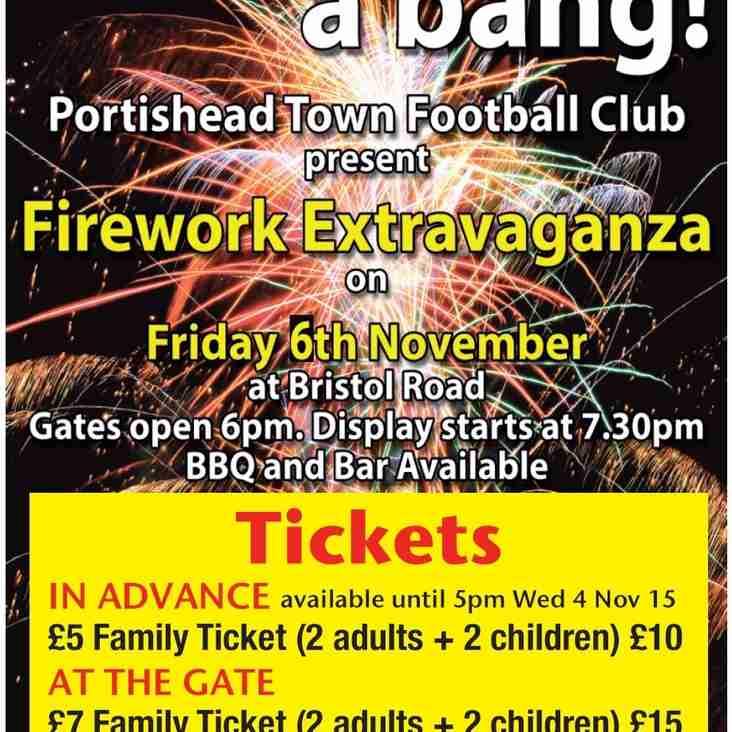 PTFC Fireworks Extravaganza!