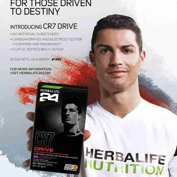 Herbalife CR7 drink available from PTFC