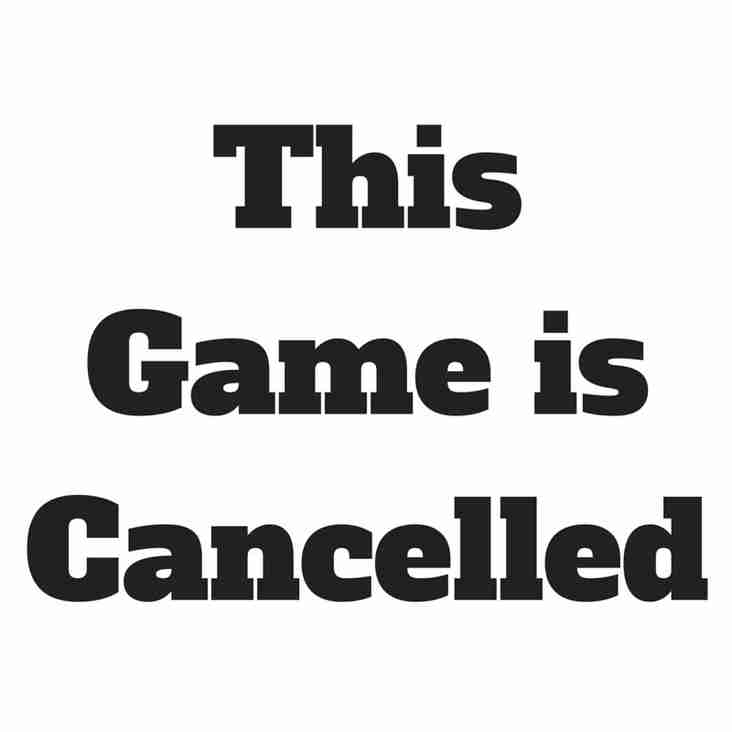 Development game against Penrith is cancelled