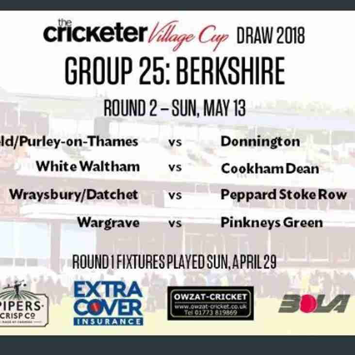The Cricketer Village cup opponents announced.....