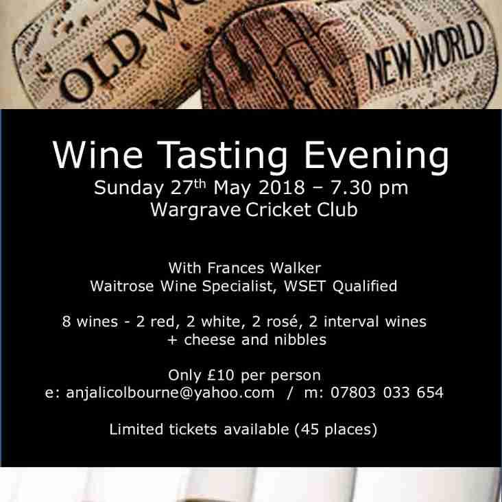 Wine Tasting 27th May
