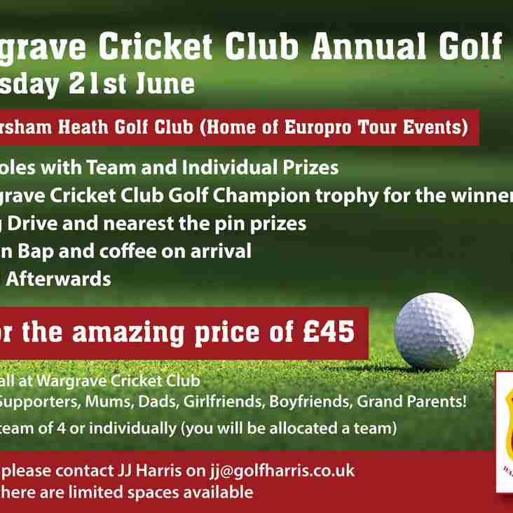 Wargrave Cricket Club Annual Golf Day 21st June