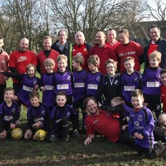 U8's Lads v Dads Christmas 2013