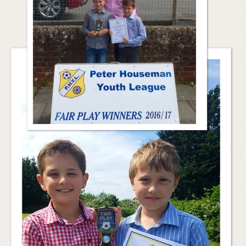 U9 and U11 teams win Fair Play Awards