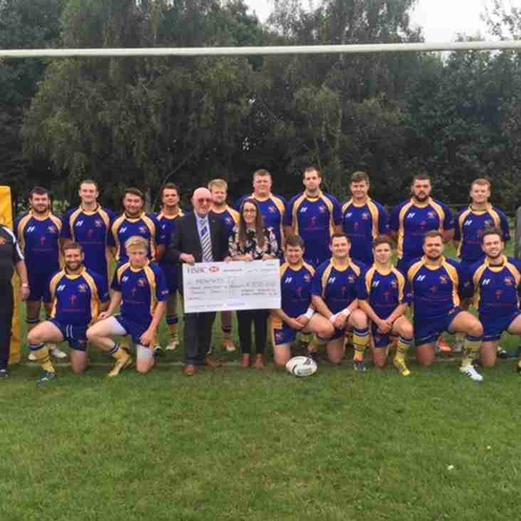 Market Bosworth RFC raise £370.00 for Menphys Charity