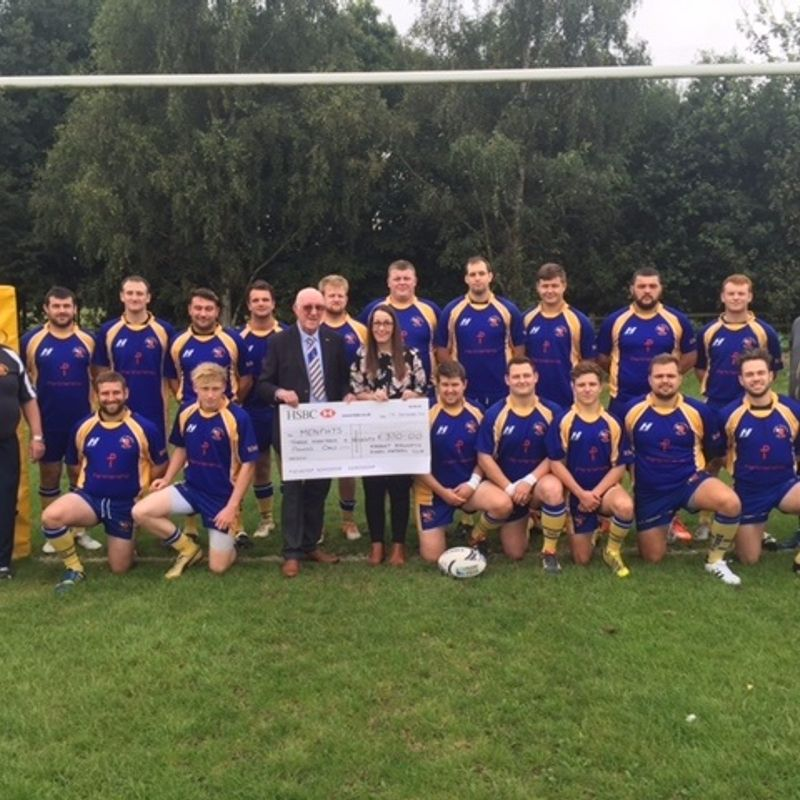Market Bosworth RFC raise £370.00 for Menphys Charity