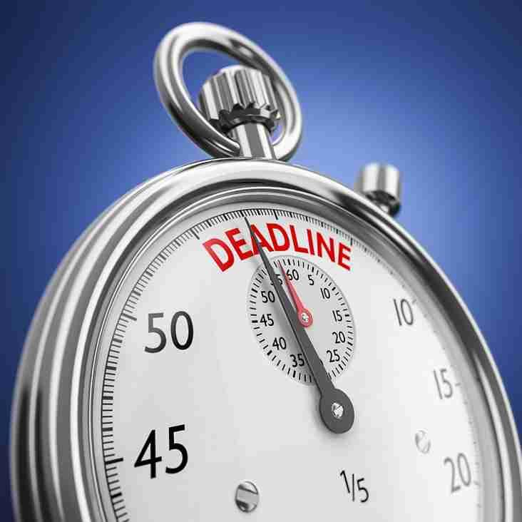 League Cup Final - Deadline