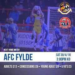 Full Time: City 2-2 AFC Fylde
