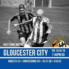 Full Time: City 2-3 Gloucester City