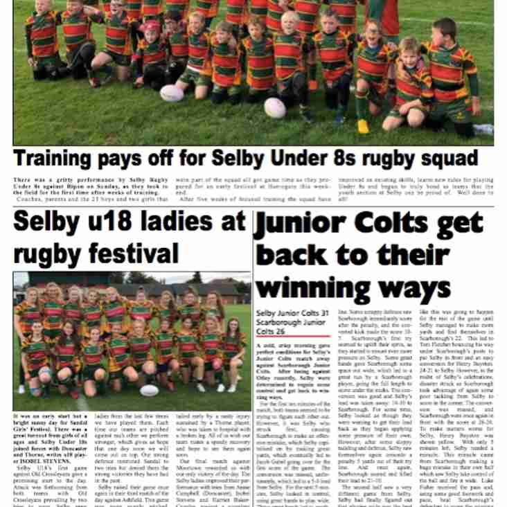 Junior Teams in the Goole & Selby Online Sport Magazine