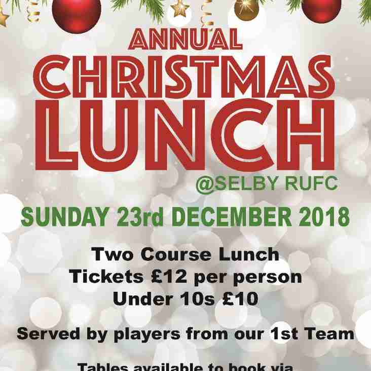 Selby RUFC Annual Christmas Lunch