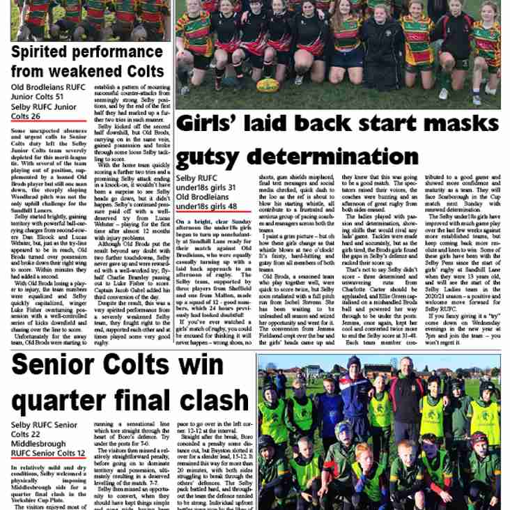 Coverage from Goole & Selby Online