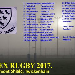 2017 BILL BEAUMONT SHIELD TWICKENHAM