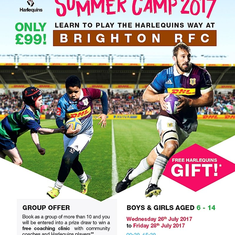 HARLEQUINS SUMMER CAMP 2017 - DATES CHANGED.