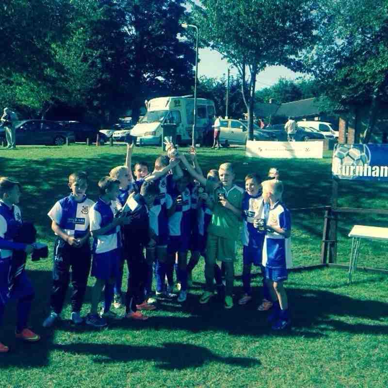 Under 12A Burnham Tournament Champions 6th September 2015
