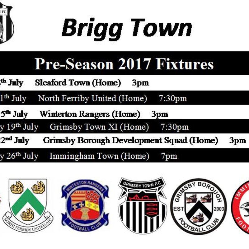 Pre-Season 2017 Fixtures
