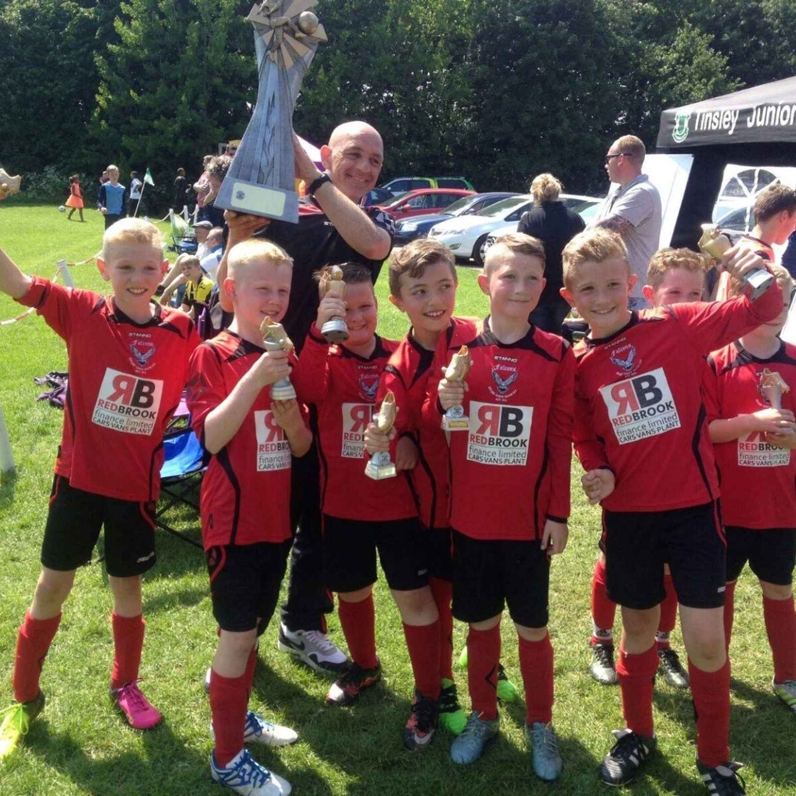 H C Falcons U9's Red  - Tinsley Tournament Winners 2016