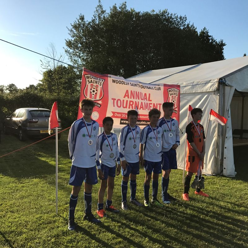 U13 Lightning Runners Up In Woodley Saints 6-a-side Tournament