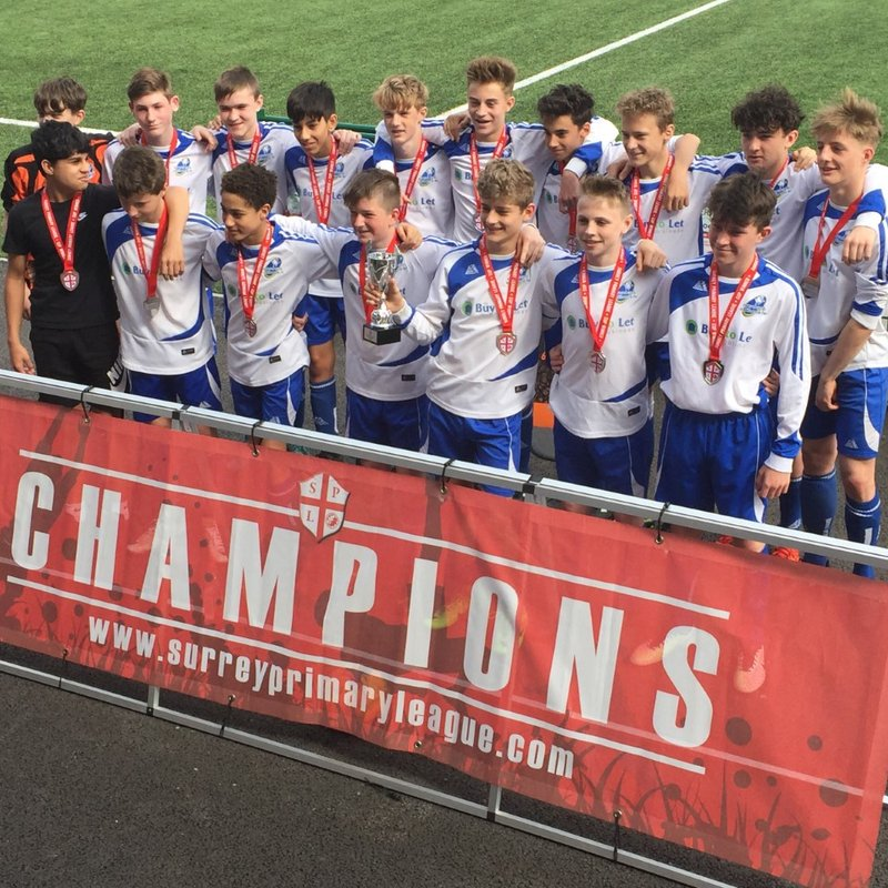 U14 Lightning Win Surrey Primary League Senior Cup