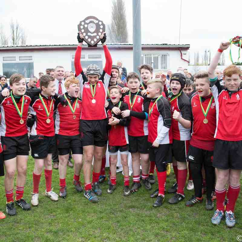 Walsall U13 39-0 Ecclesbury Staffs Plate Final win 2015