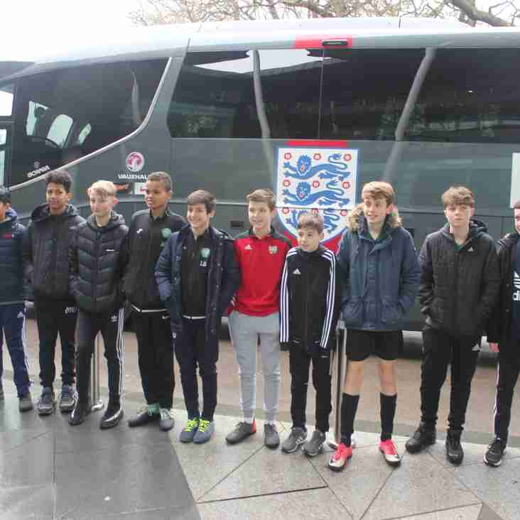 Whitton U13 Futsal Team visit St. George's Park