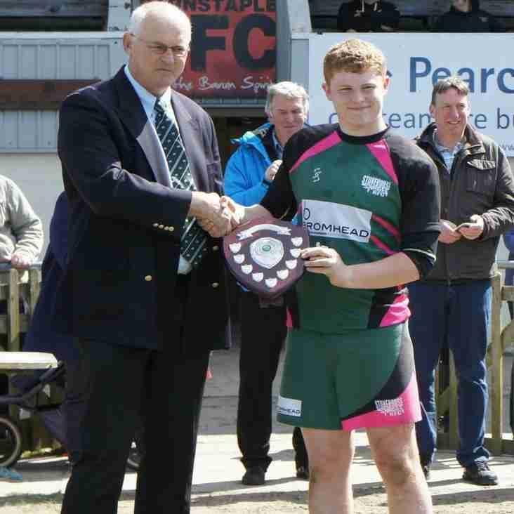 Under 15s take second trophy of season, winning the Devon Plate final against Okehampton.