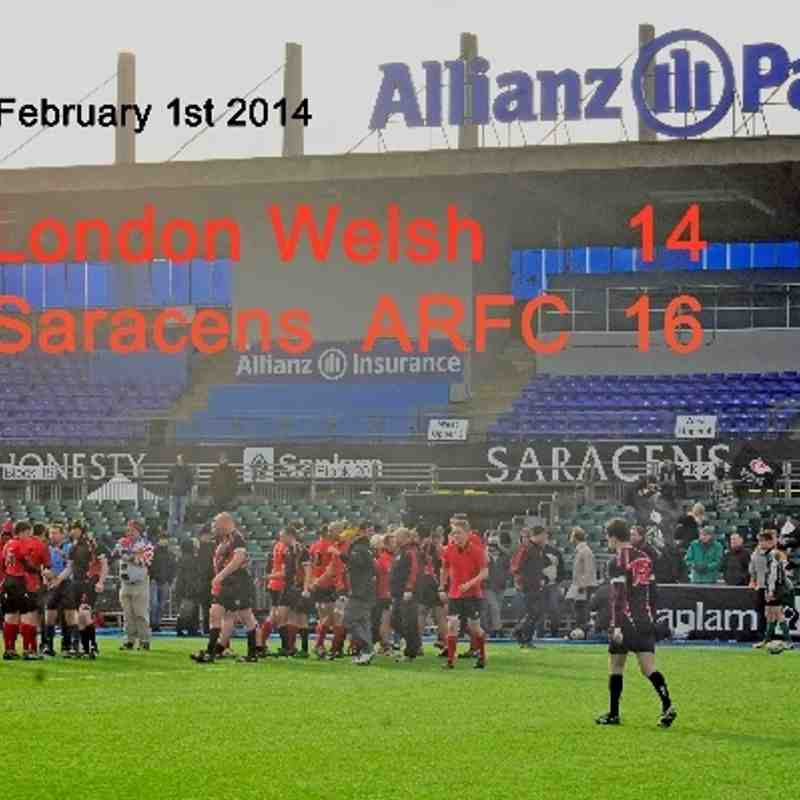 London Welsh 14 Saracens ARFC  16