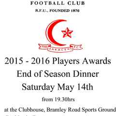 2015 - 2016 Senior Mens Player Awards