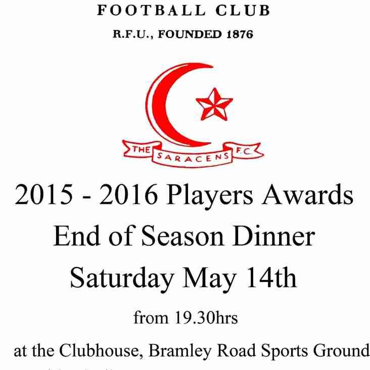 2015 - 2016 Senior Mens Player Awards