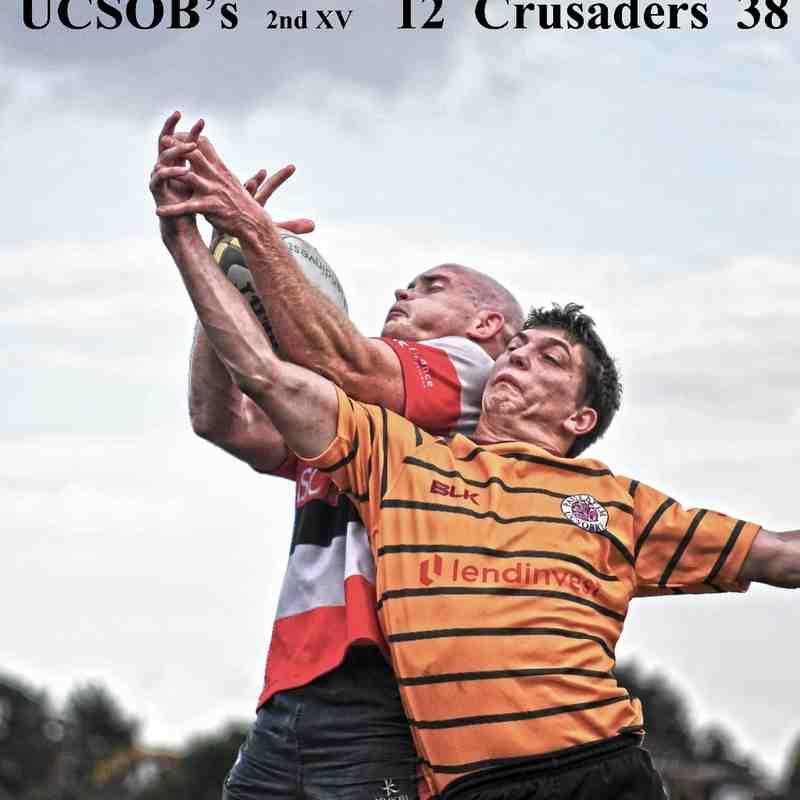 UCSOB's 2nd XV   12  -  38  Crusaders